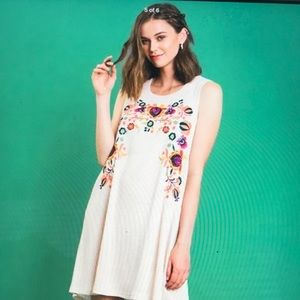 Umgee Floral Embroidered Tunic/Dress